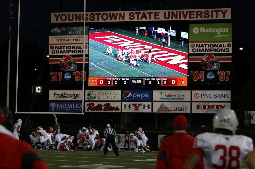 Youngstown, OH | 16mm | 35.25' x 20' | College Scoreboard