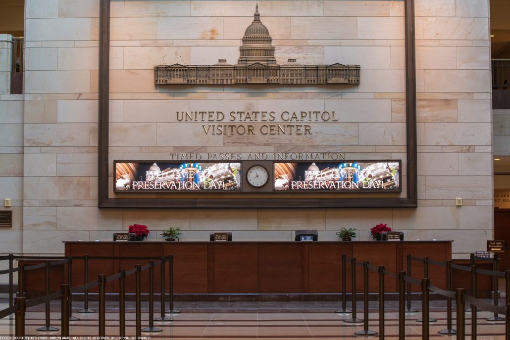 Washington, DC | 2.5mm | 10' x 2' (2 screens) | Lobby Entrance